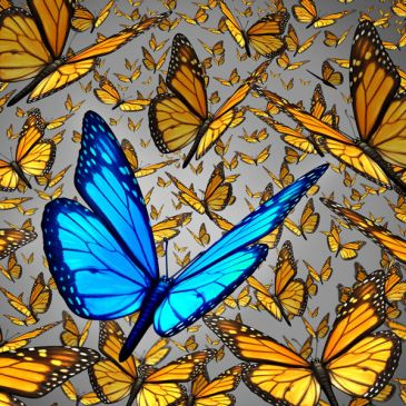 butterflies symbolizing hope for Alzheimers and Parkinsons
