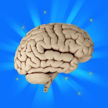 glowing healthy brain from eating a ketogenic diet