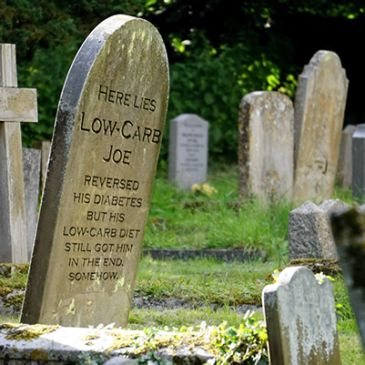 Low Carb Joe's tombstone