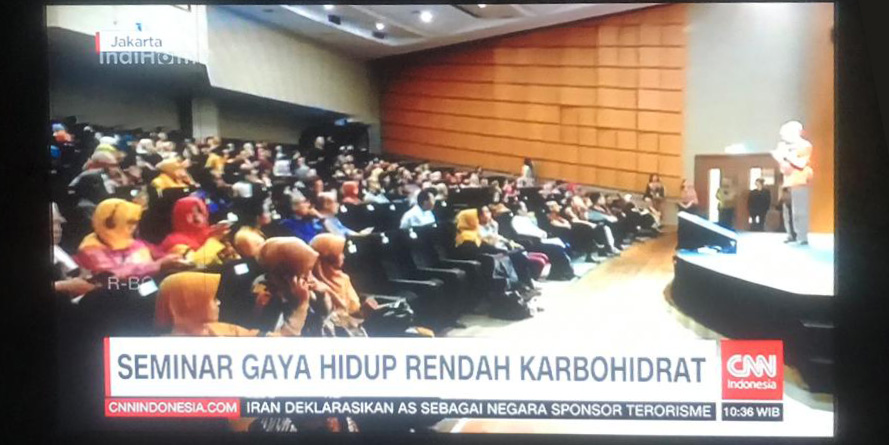 low Carb Indonesia conference on CNN Indonesia