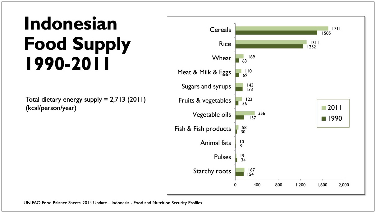Low Carb Indonesia conference slide - Indonesian Food Supply chart