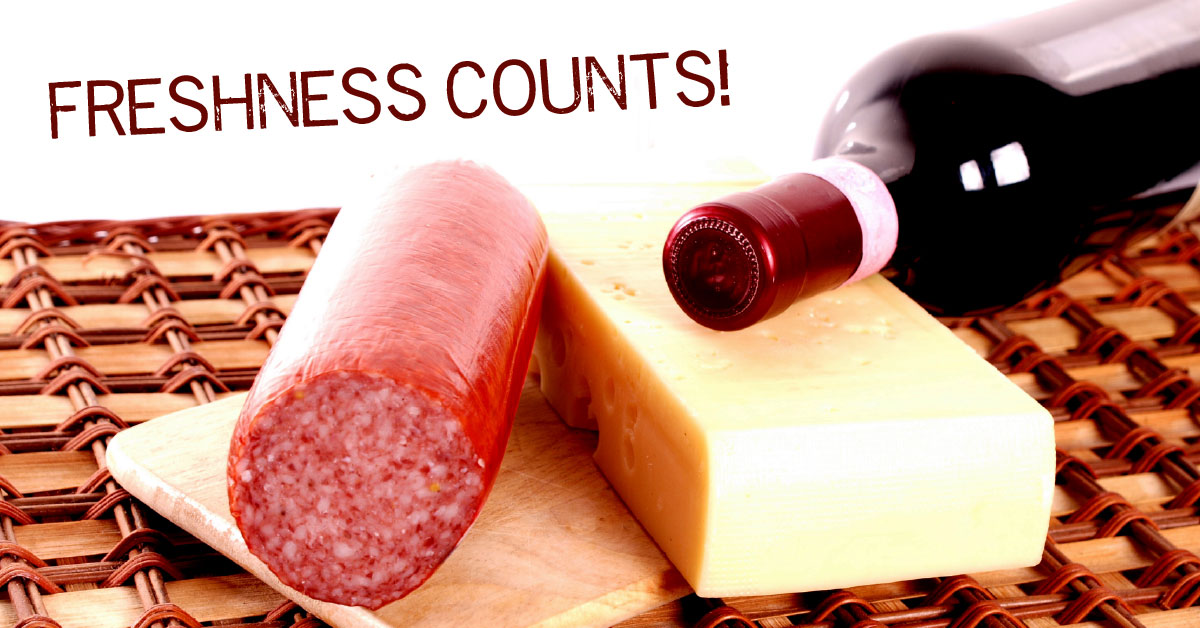 histamine-rich aged foods: salami, cheese and wine