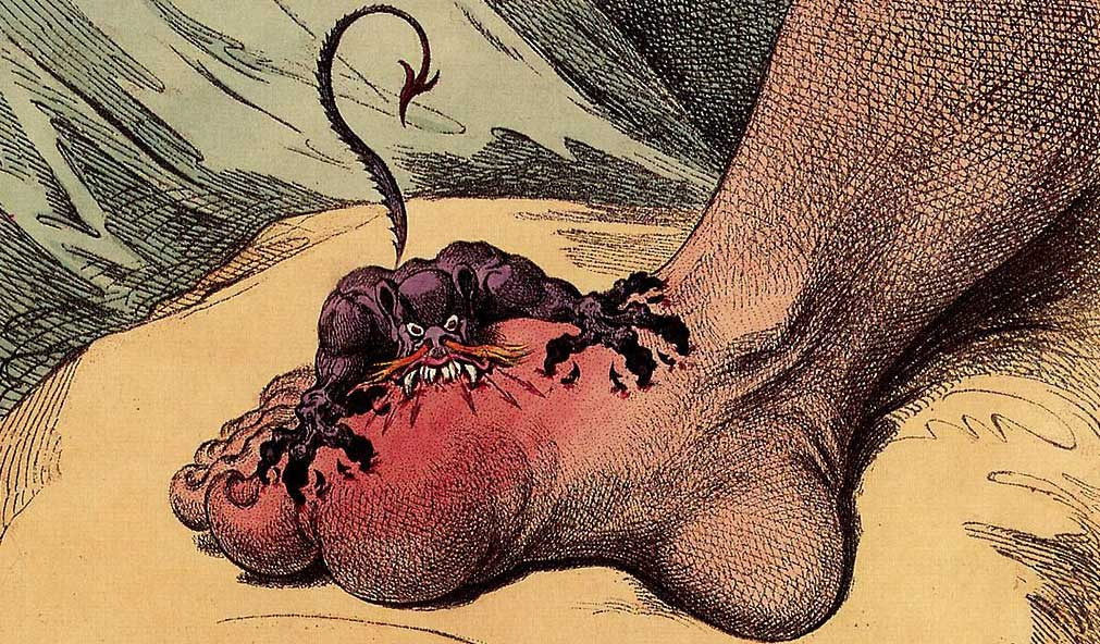 gout cartoon - james gillray