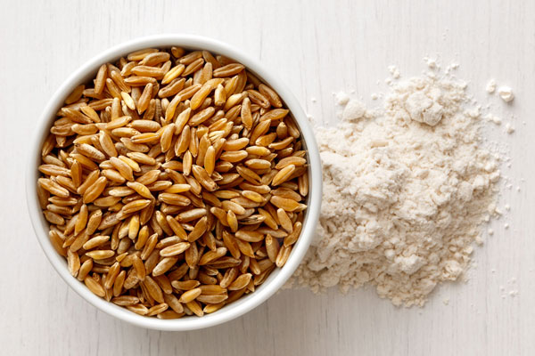 whole wheat kernels and refined wheat flour