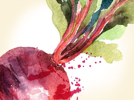 Foods Category - Beat watercolor image
